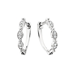 classic & modern diamond hoop earrings