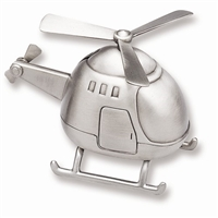 pewter helicopter baby bank