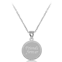 sterling silver friends forever necklace