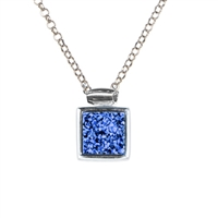 Frederic duclos blue druzy triple chain necklace