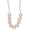 Frederic Duclos sterling silver & rose gold plated Diana necklace