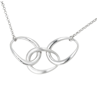 Frederic Duclos sterling silver triple link necklace