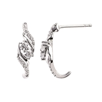 2Us 2 Stone Diamond Fashion Earrings