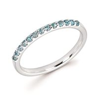 white gold blue topaz stackable ring