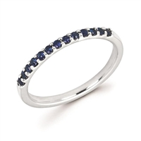 white gold sapphire stackable ring