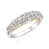 14k white & yellow gold rope diamond band