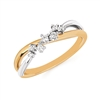 14k white & yellow gold two tone diamond fashion ring