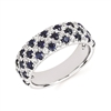 14k white gold diamond & sapphire fashion band