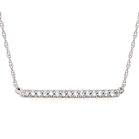 Diamond Trapeze Bar Necklace