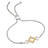 Sterling Silver & 14k yellow gold reversible bolo bracelet