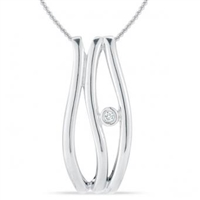 Stefano Bruni designs glamorous expressions sterlings silver & diamond pendant