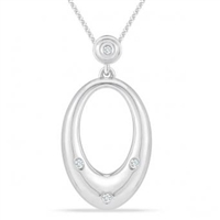 Stefano Bruni designs classic & contemporary sterling silver & diamond pendant