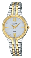 Pulsar Ladies Night Out Solar Powered Two Tone Watch