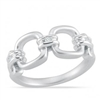 Stefano Bruni designs glamorous expressions sterling silver & diamond square link ring