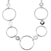 sterling silver & diamond circle necklace
