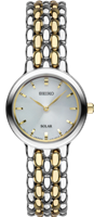 ladies seiko two tone stainless steel watch SUP349