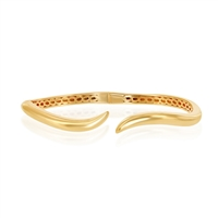sterling silver gold plated wave bangle