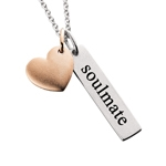 Sterling Silver heart soulmate necklace