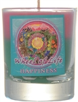Filled Votive Holders Mandala - Happiness