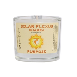 <!051>Chakra - Soy Filled Votive Holder - Solar Plexus