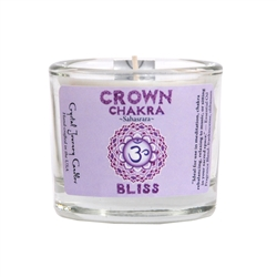 <!011>Chakra - Soy Filled Votive Holder - Crown