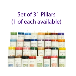 Herbal Magic Pillars -    Set of 31 Pillars  (1 of each available)