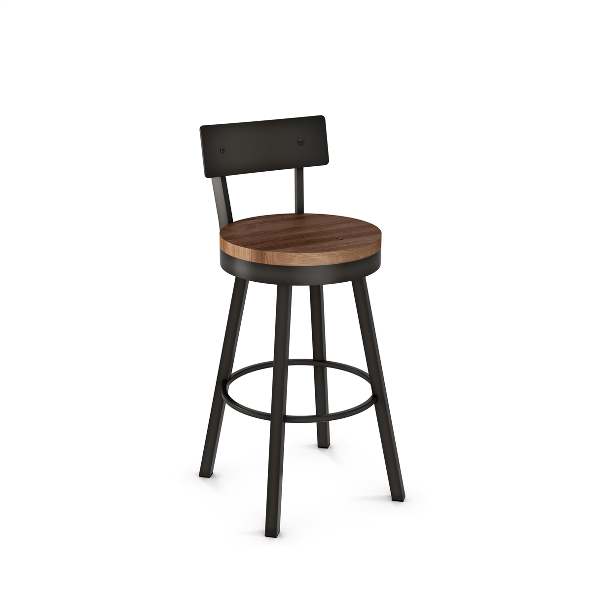 Awesome Lauren Swivel Stool Upholstered Seat And Metal Backrest Onthecornerstone Fun Painted Chair Ideas Images Onthecornerstoneorg
