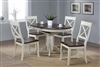 "36"" x 36""  Opens to 48"" Solid Wood Round Table with four Chairs"