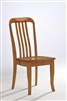Solid Wood Chair with wood seat light oak finish