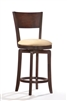 "24"" Counter Stools Swivel Solid Wood Cappuccino Finish"
