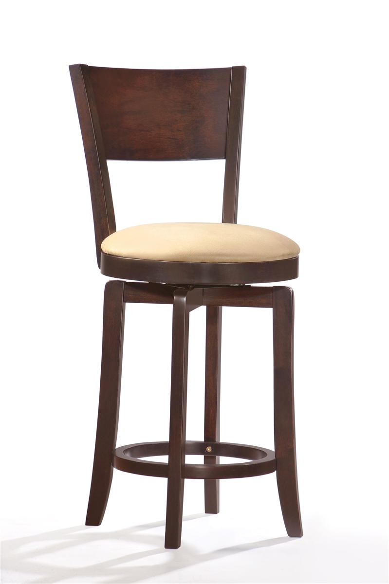 Admirable 24 Counter Stools Swivel Solid Wood Cappuccino Finish Pdpeps Interior Chair Design Pdpepsorg