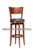 "30"" Bar Stools Swivel Solid Wood Cherry Finish"