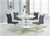5 PIECE STEPHANIE SET WITH FOUR CHAIRS