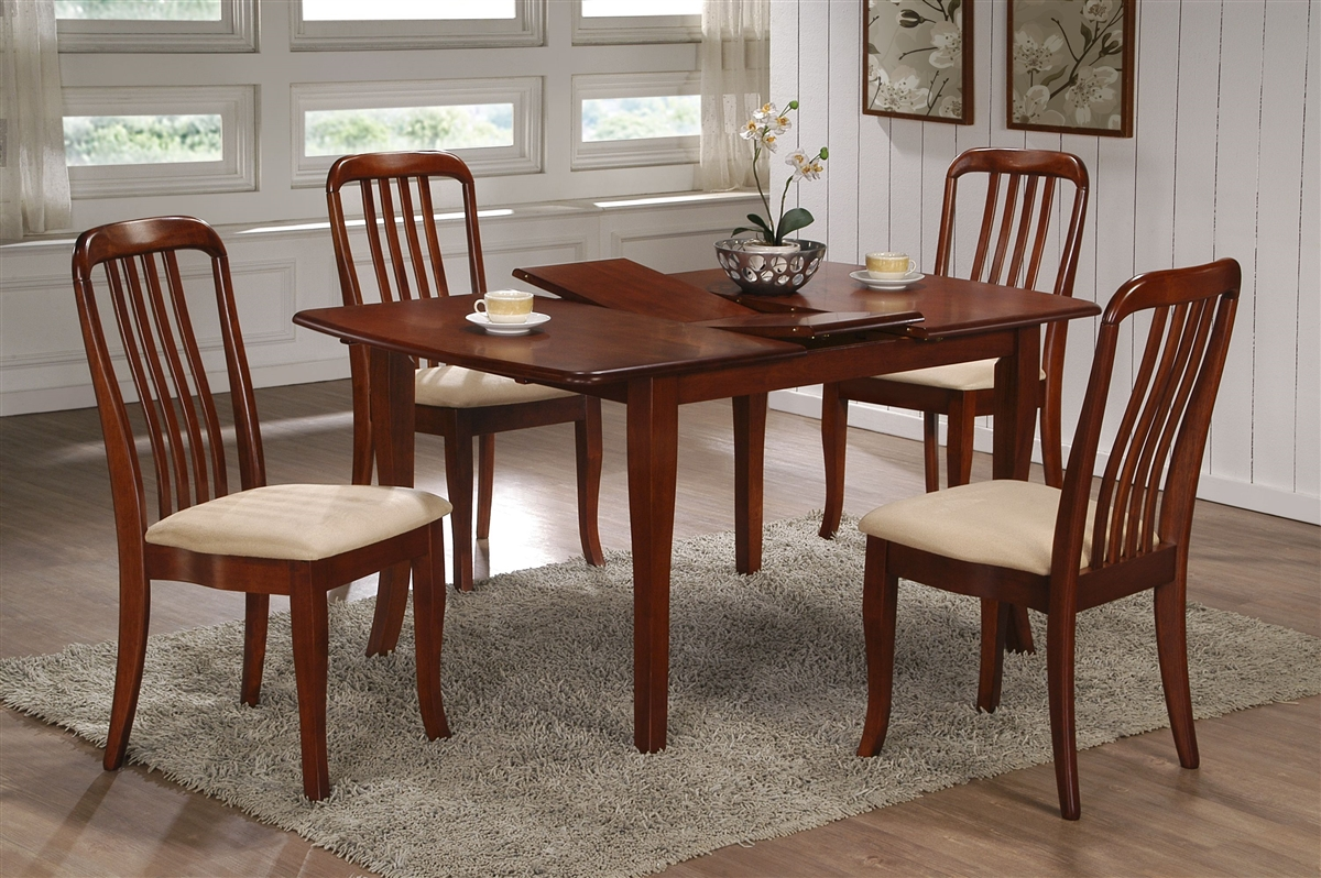 36 X 48 Solid Wood Table Opens To 60 Cherry Finish
