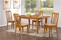 "36"" X 48"" Solid wood Table opens to 60"" Light Oak Finish"