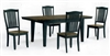 "38"" X 60"" X 78"" Solid wood Table Rustic Black"