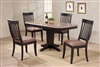 "36"" x 48""  Opens to 60"" Solid Wood Cut Corner Table with four Chairs"