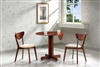 "36"" Drop Leaf Table with Two Chairs Cherry Finish"