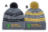 Balmoral Hall Striped Lined Pom Pom Toque
