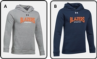 Blazers Athletics Youth UA Hustle Hoodie