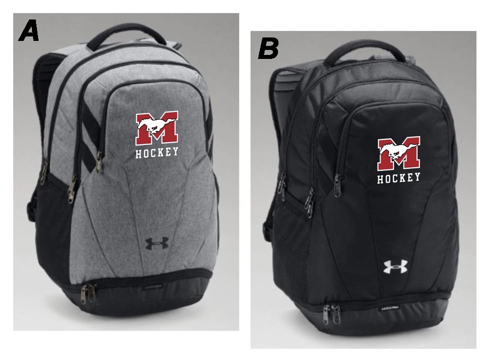 4d1f7e1c3f1 Mustangs Organization UA Hustle Backpack