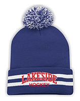 Lakeside Striped Cuff Pom Pom Toque