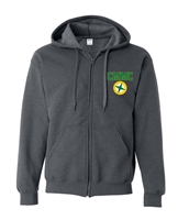 Miles Mac Embroidered Zip Hooded Sweatshirt