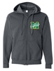 Miles Mac Buckeyes Embroidered Zip Hooded Sweatshirt