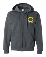 Miles Mac Grad Embroidered Zip Hooded Sweatshirt