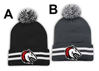 Stallions Striped Cuff Pom Pom Toque