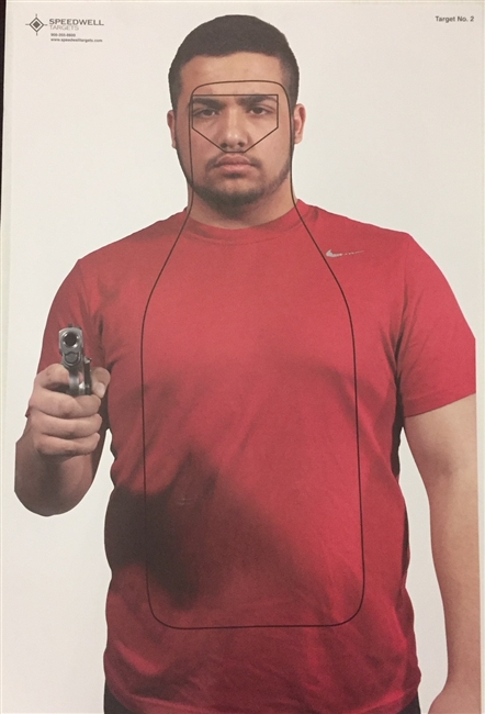 NEW - Realistic Hostile Man W/ Gun Target #802 - Boxed of 100