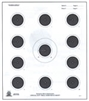 NRA Official Small bore Rifle Target  A-17 - Box of 1000