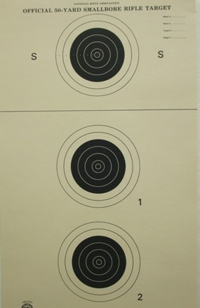 NRA Official Smallbore Rifle Target A-23/3 - Box of 250