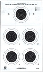 NRA Official Small bore Rifle Target  A-23/5 - Box of 250
